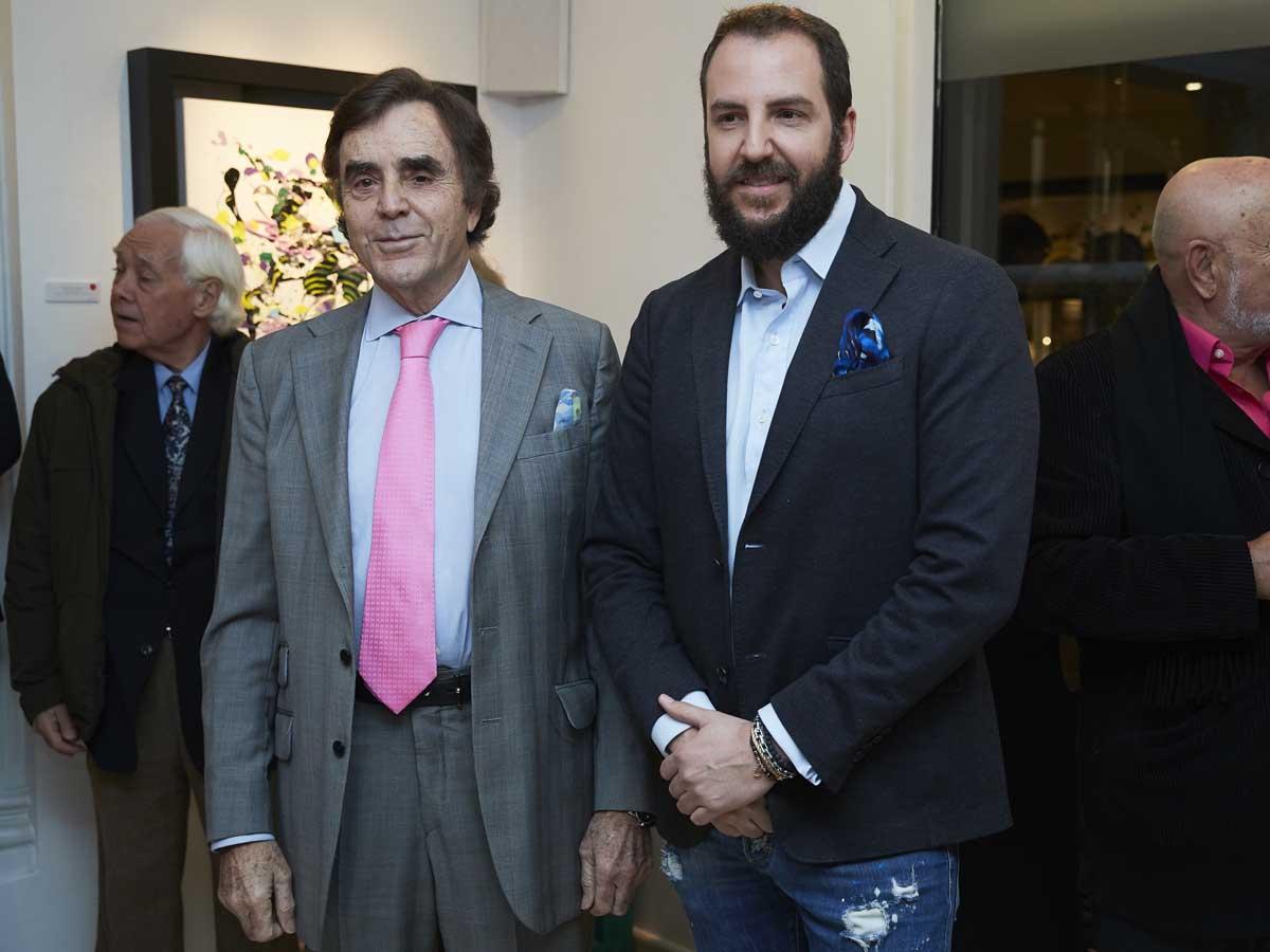 Manolo Segura junto a su hijo, Borja Thyssen, en febrero de 2019 / GTRES