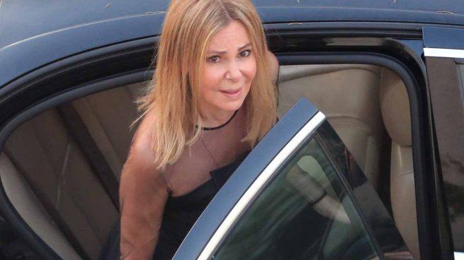 Ana Obregón durante el funeral de su hijo Álex / Gtres