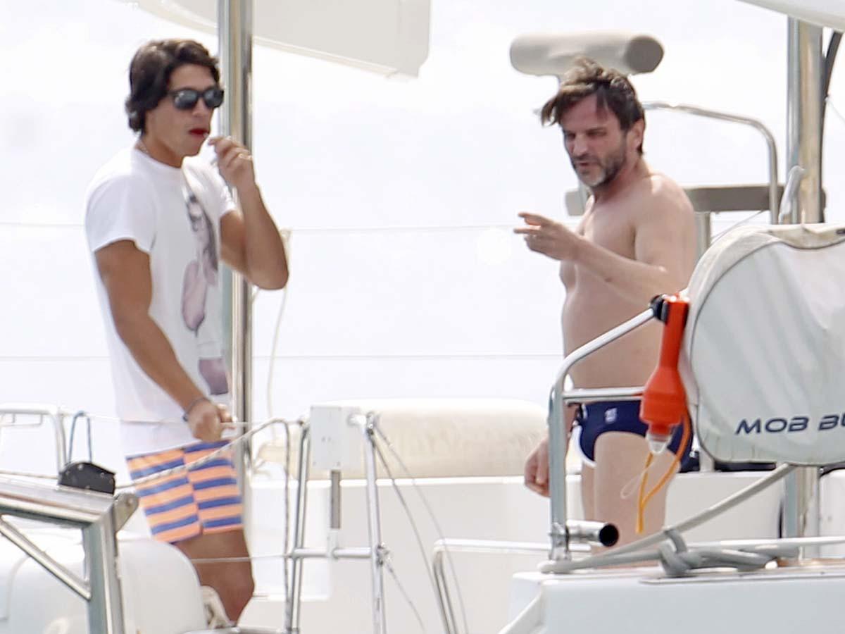 Pablo Castellano y Fernando Tejero durante una escapada a Ibiza / GTRES