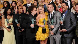 El reparto de Glee en una de sus grandes noches, antes de que la mala suerte se empezase a cebar con ellos / GTRES