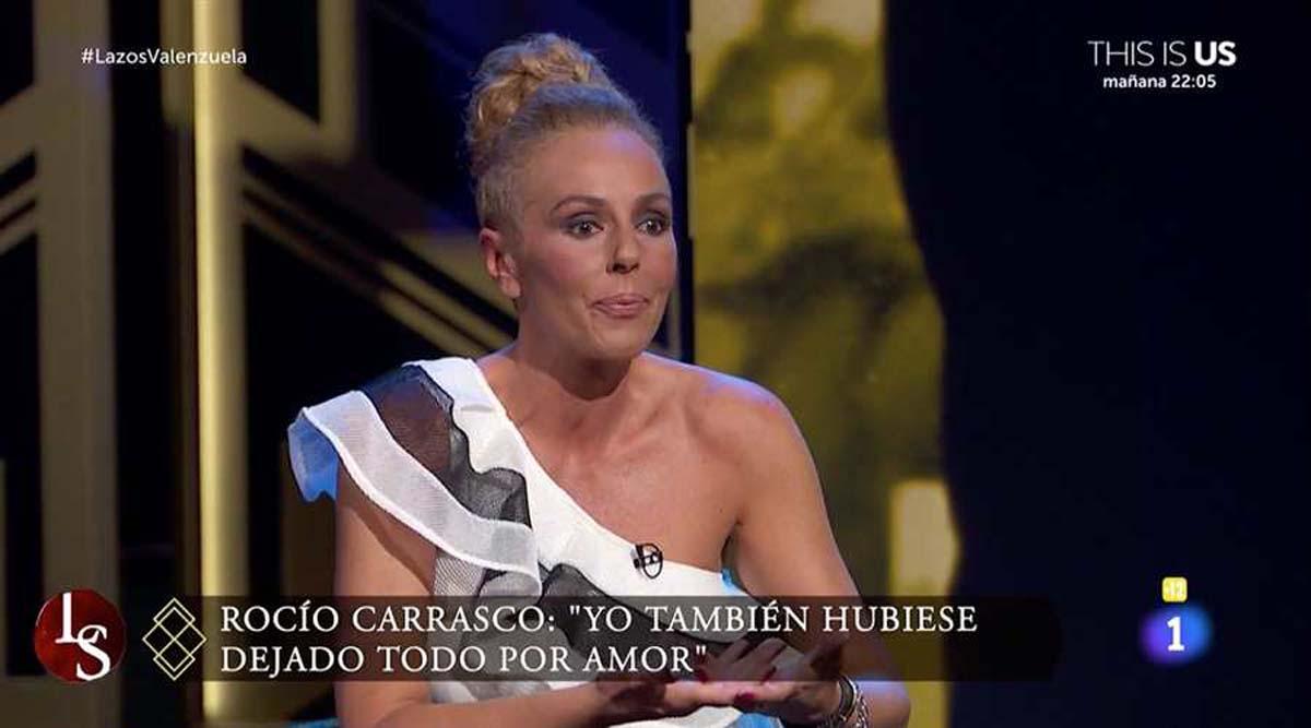 Rocío Carrasco durante su última intervención en 'Lazos de Sangre' / TVE