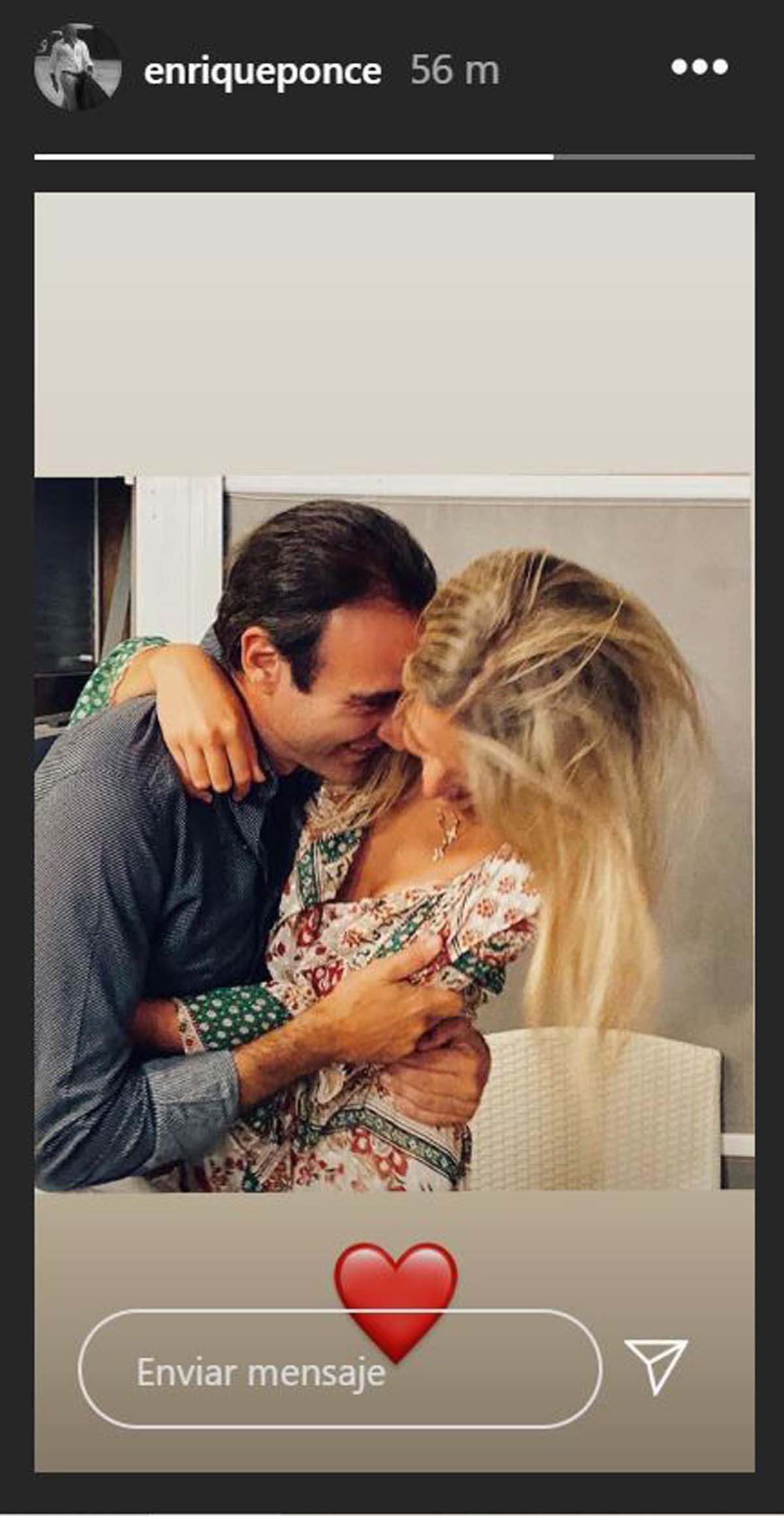 Enrique Ponce ha hecho una storie con Ana Soria / Instagram