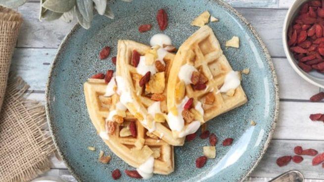 Desayuno o merienda saludable: Receta de gofres altos en proteínas