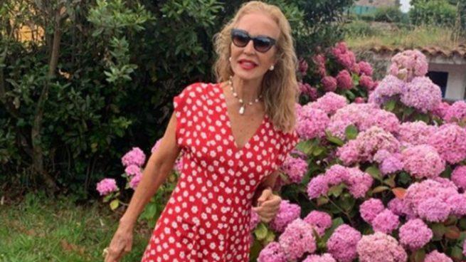 Venta Vestido Rojo Flores Mango En Stock