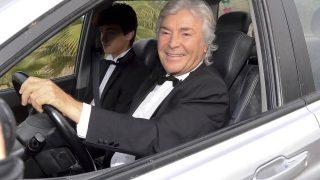 El piloto Angel Nieto durante la boda de Fonsi Nieto y Marta Castro / Gtres