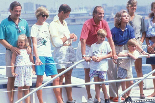 Reyes Juan Carlos y Sofía, Príncipe Carlos y Lady Di, Constantino de Grecia