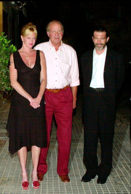 Rey Juan Carlos, Melaniea Griffith, Antonio Banderas