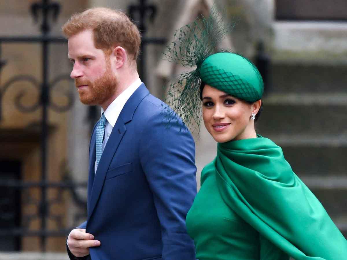 Meghan Markle y Harry en su último acto como duques de Sussex / GTRES