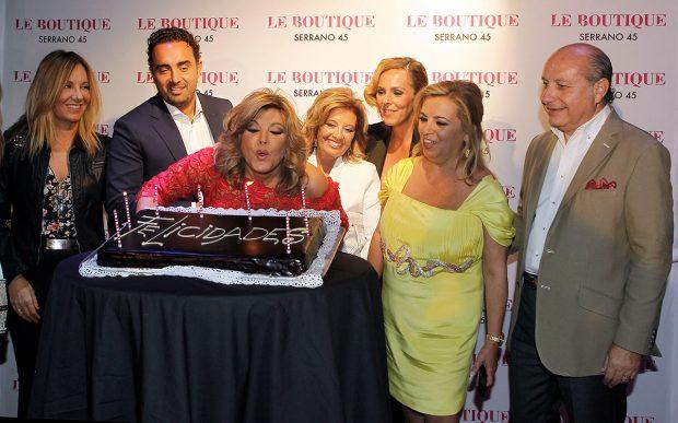 Rocío Carrasco, Fidel Albiac, Terelu Campos, María Teresa Campos, Carmen Borrego, José Carlos Bernal