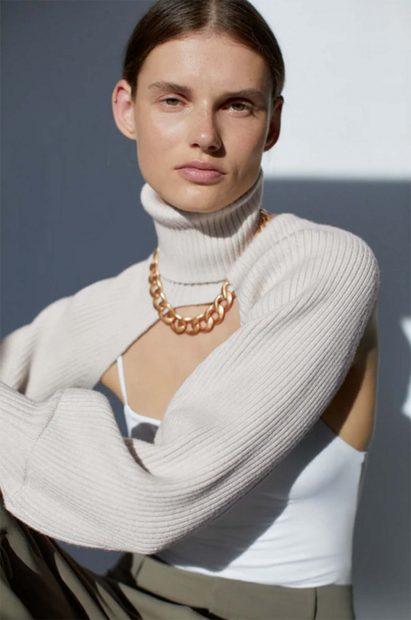 Jersey beige Zara