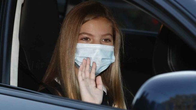 La infanta Sofía a su llegada al colegio en el primer día de clase / GTRES