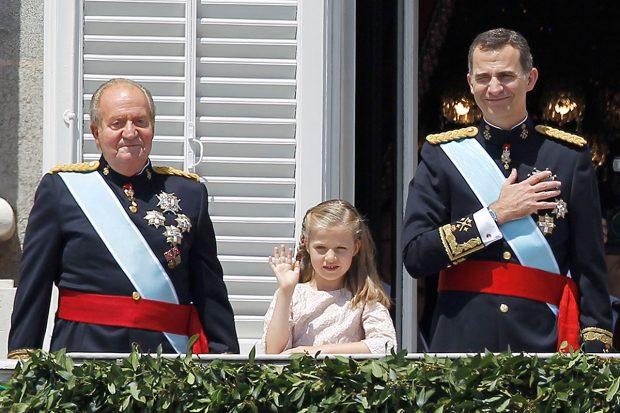 Rey Juan Carlos, Rey Felipe, Princesa de Asturias
