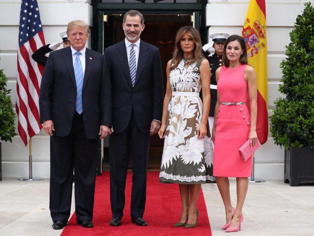 Donald y Melania Trump y el rey Felipe y la reina Letizia