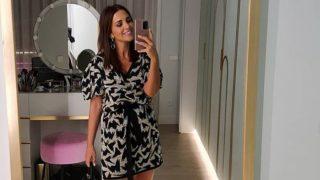 Paula Echevarría posa de embarazada con el vestido de Uterqüe más versátil del otoño
