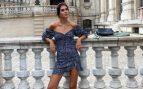 Mery Turiel nos enseña el total look de Pull&Bear que combina vestido con botas militares