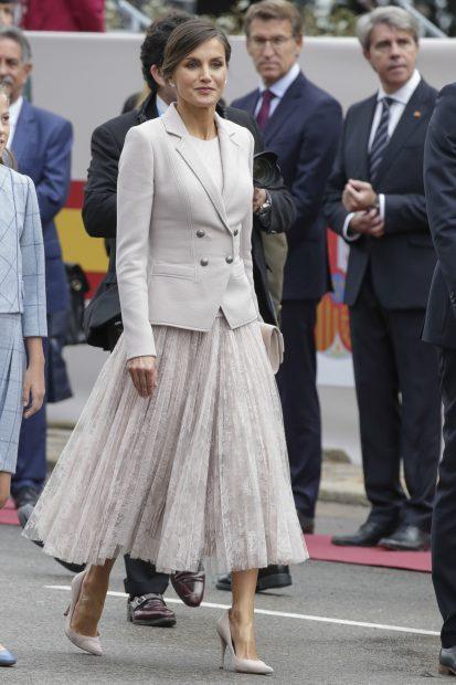 La reina Letizia en el Día de la Fiesta Nacional de 2018/Gtres
