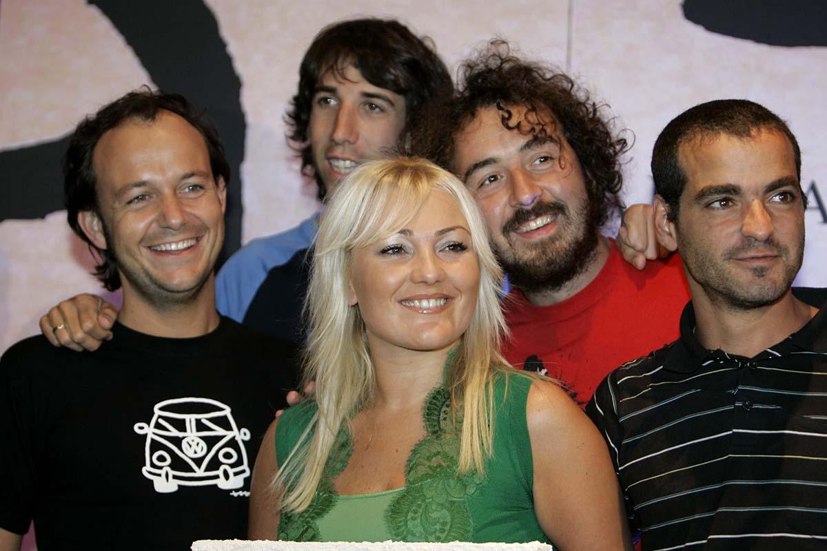 Amaia Montero junto a 'La oreja de Van Gogh' cuando formaba parte del grupo / GTRES