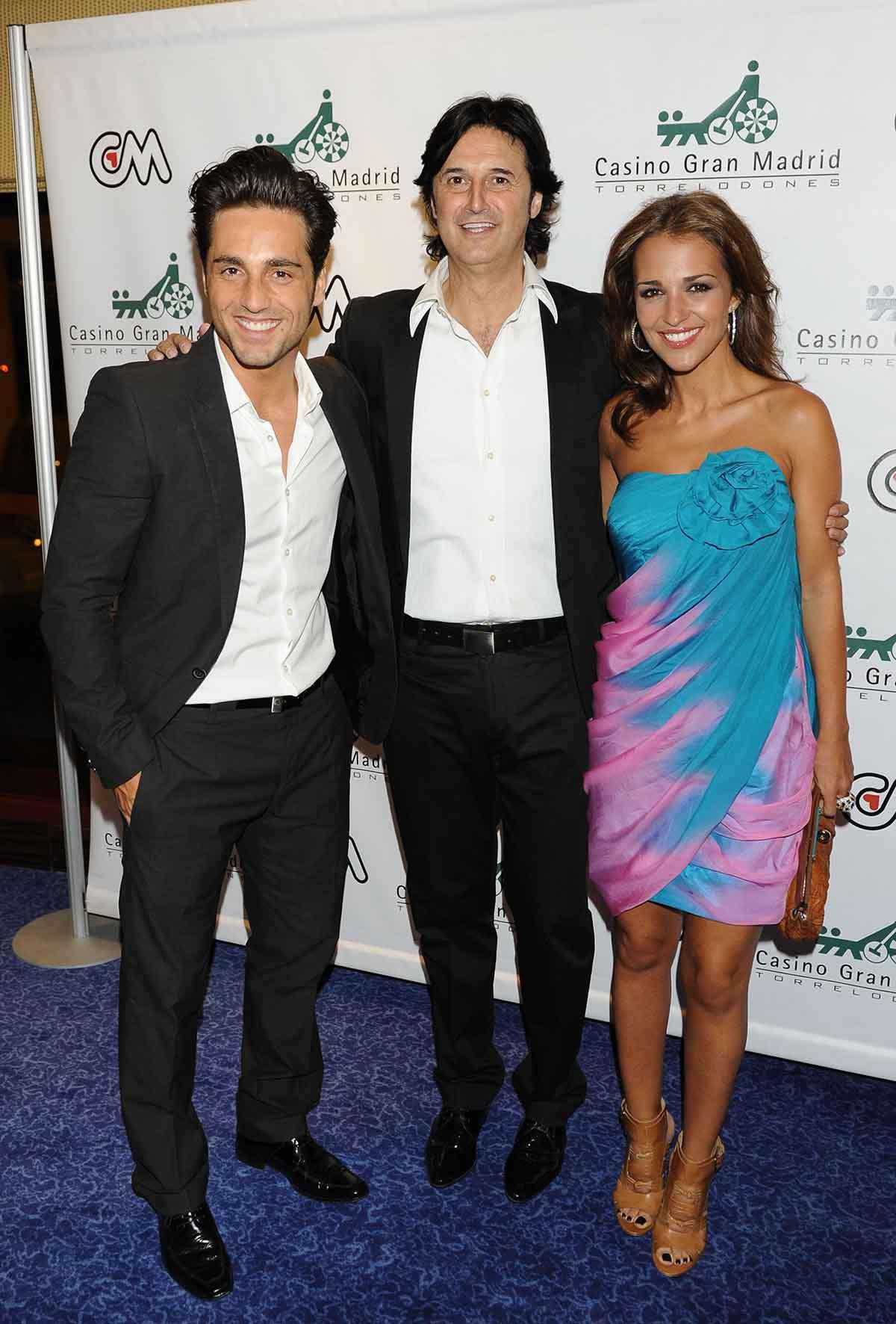 David Bustamante, Paula Echevarría y Poty Castillo en una imagen de archivo / GTRES