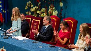 El rey Felipe VI, la reina Letizia, la princea Leonor, la infanta Sofía en los Premios Princesa de Asturias 2019/Gtres