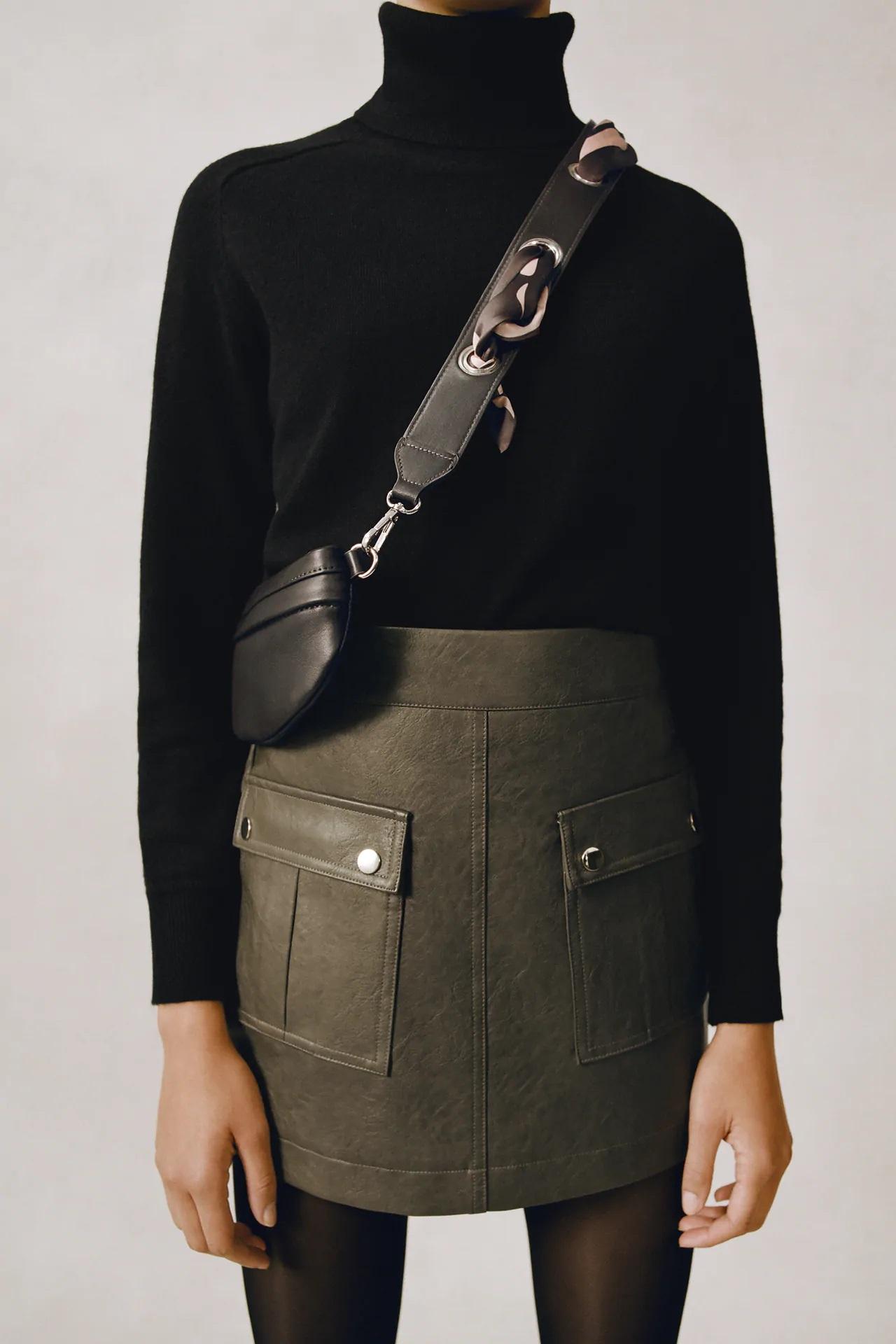 Zara tiene la falda pantalón de cuero más cómoda de este otoño-invierno