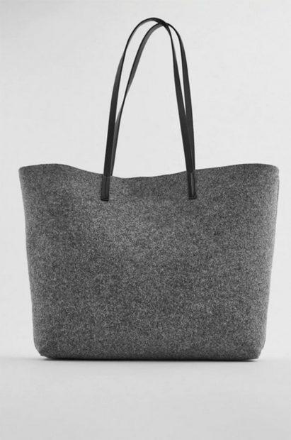 Bolso personalizable en color gris de Zara/Zara