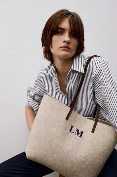 Bolso beige que se puede personalizar de Zara/Zara