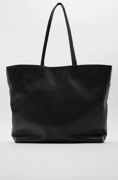 Bolso shopper en color negro de Zara/Zara