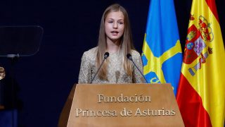 Leonor durante su discurso en la entrega de premios / Gtres