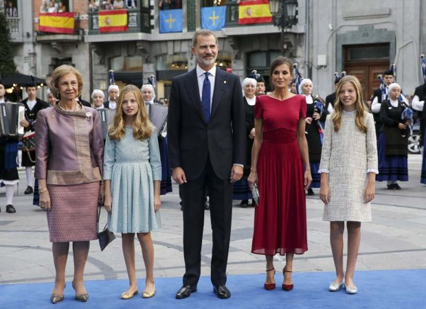 Rey Felipe VI, Reina Letizia, Princesa Leonor, Infanta Sofía, Reina Sofía / Gtres