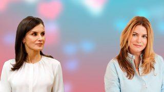 La reina Letizia y Gigi Howard en un montaje de Look