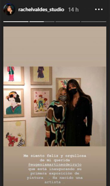 Rachel Valdés, quedó encantada con la exposición de Eugenia Martínez de Irujo/@rachelvaldes_studio