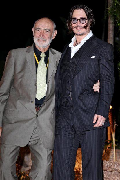 Sean Connery y Johnny Depp en una imagen de archivo./Gtres