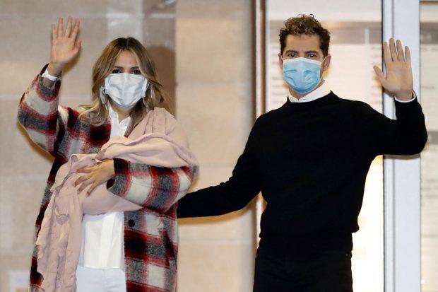 David Bisbal y Rosanna Zanetti presentando a su hija Bianca./Gtres