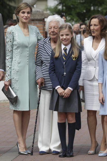 La reina Letizia, la princesa Leonor, Paloma Rocasolano y Menchu Álvarez/Gtres