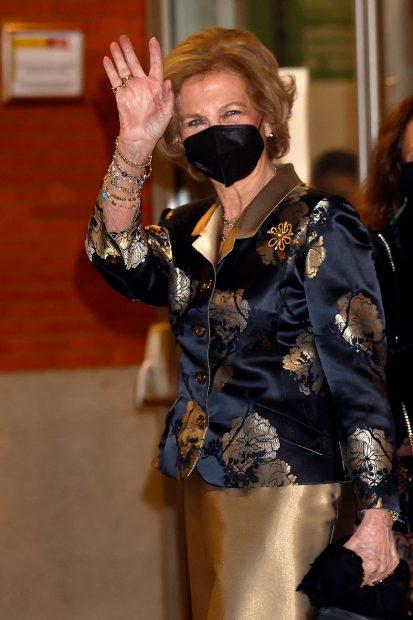 La reina Sofía ya se encontraba en el interior del Auditorio cuando llegó la pareja/Gtres