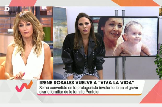 Irene Rosales asiste a 'Viva la vida' para hablar de la polémica entre Kiko Rivera e Isabel Pantoja./Telecinco