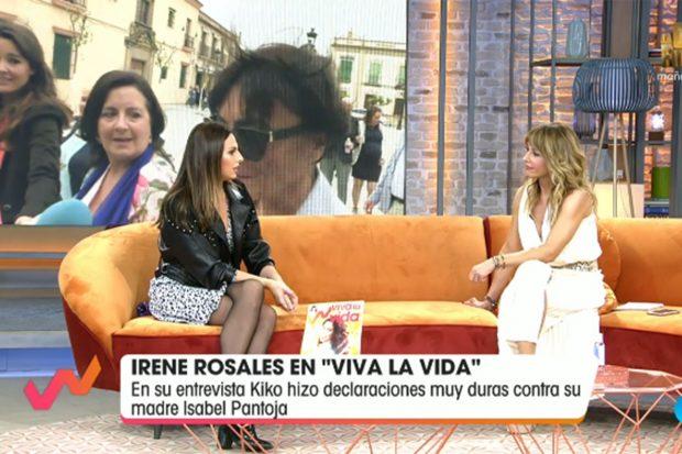 Irene Rosales junto a Emma García en una entrevista en 'Viva la vida'./Telecinco