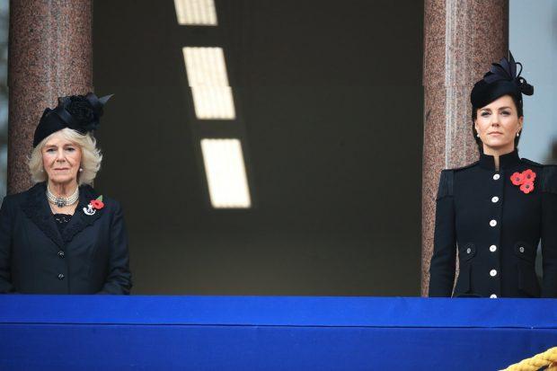 Kate Middleton y Camila de Cornualles en el Día del Armisticio./Gtres