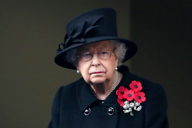 La reina Isabel en el Día del Armisticio./Gtres