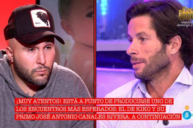 Kiko Rivera y José Antonio Canales Rivera en el programa 'Cantora: herencia envenenada'./Telecinco
