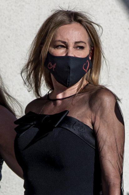 Ana Obregón durante el entierro de Álex Lequi./Gtres