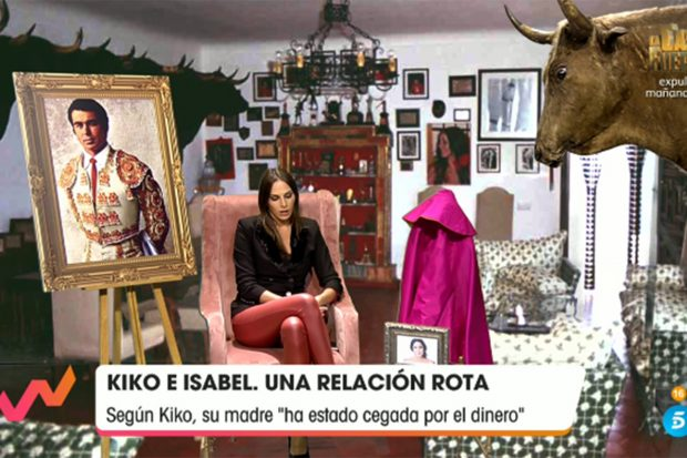 Irene Rosales, mujer de Kiko Rivera en 'Viva la vida'./Telecinco