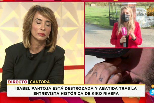 María Patiño dando a conocer en 'Socialté' cómo se encuentra Isabel Pantoja./Telecinco