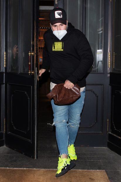 Kiko Rivera de cena en Madrid./Gtres