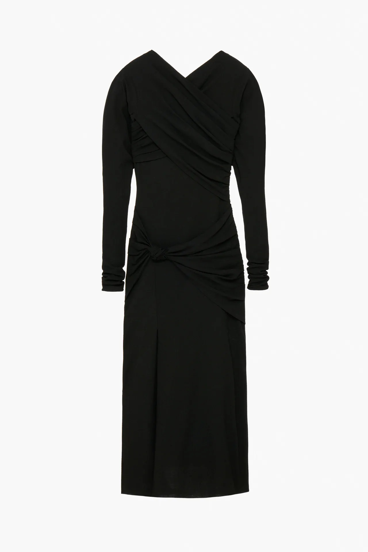 Zara tiene la versión low cost del vestido negro drapeado de la reina Letizia