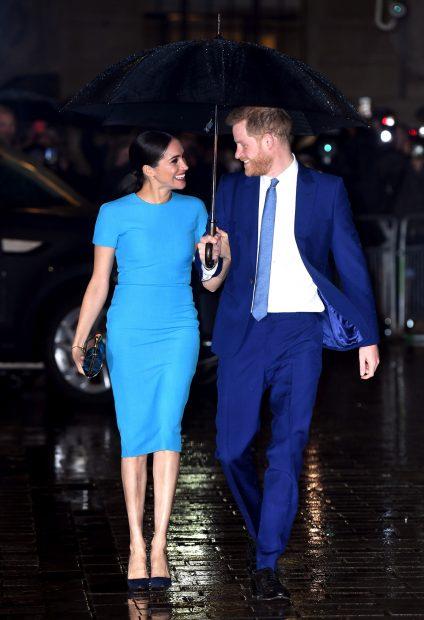 El príncipe Harry y Meghan Markle en una de sus últimas apariciones púlicas mientras formaban parte de la Familia Real británica./Gtres