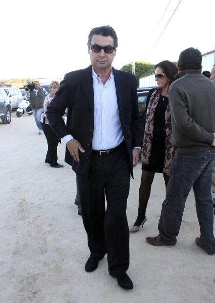 Antonio Rivera en el entierro de su padre Antonio Rivera./Gtres