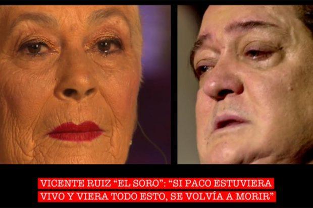 Teresa Rivera y Vicente Ruiz Soro en el especial 'Cantora: la herencia envenenada 2'./Telecinco