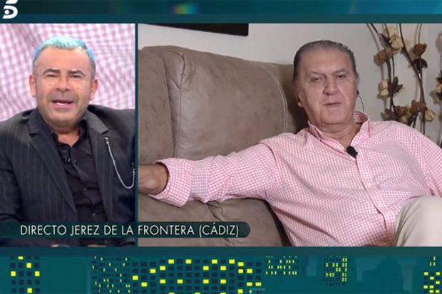 Jorge Javier Vázquez entrevistando a Luis Lara, amigo íntimo de Paquirri./Telecinco