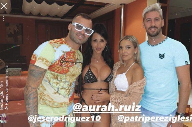 Jesse Rodríguez, Aura Ruiz, Patricia y Lester./Instagram @lester_dc